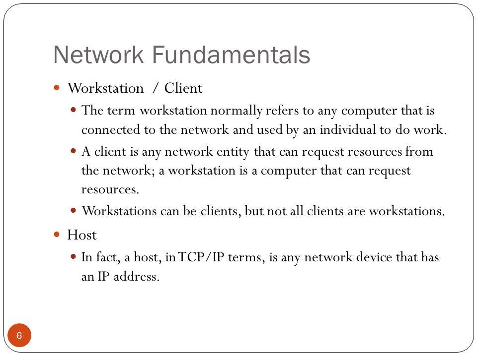 Network Fundamentals 7