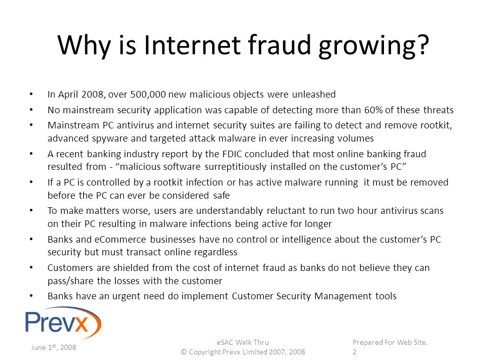 Supplied on \web site. on January 10 th, 2008 Why is Internet fraud growing.