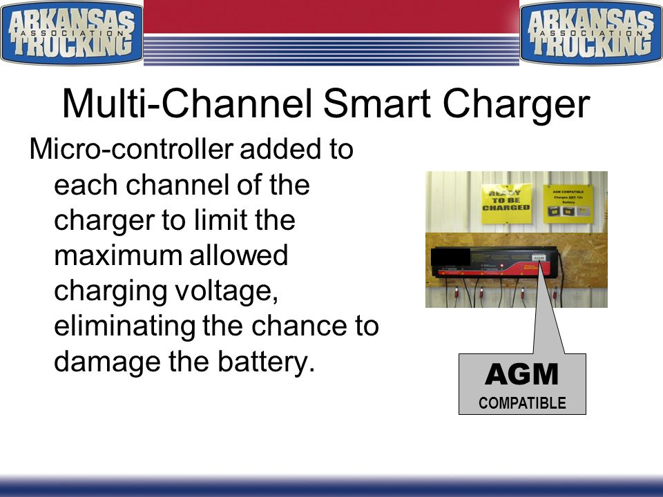 Multi-Channel Smart Charger Micro-controller added to each channel of the charger to limit the maximum allowed charging voltage, eliminating the chance to damage the battery.
