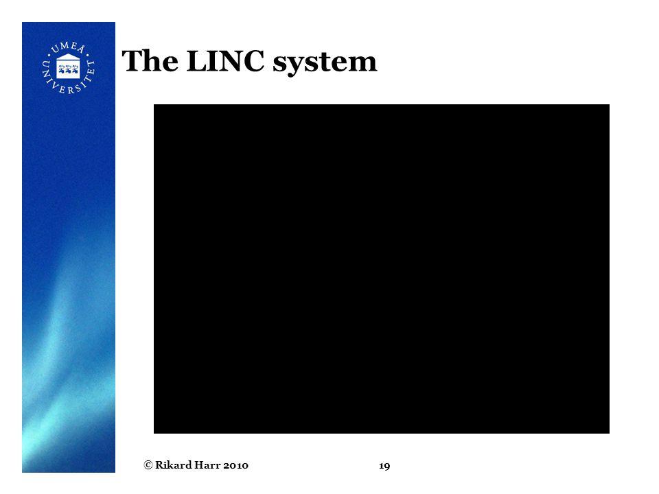 © Rikard Harr 201019 The LINC system