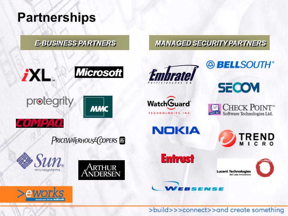 Partnerships MANAGED SECURITY PARTNERS E-BUSINESS PARTNERS