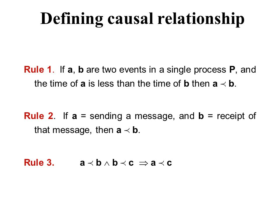Defining causal relationship Rule 1.