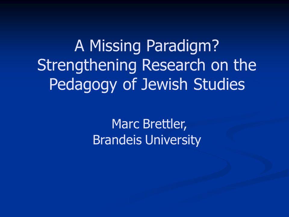 A Missing Paradigm.