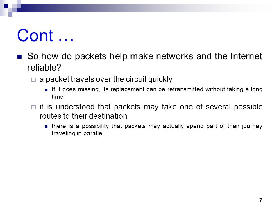 Cont A hacker trick is to open up a session (begin a communication) with a system under attack, receive an acknowledgment, and then leave the connection half- completed Tying up resources and memory on the attacked device Do this enough times and  systems can hang up or cease functioning  denying services to legitimate users  can crash Why is IP such a pushover.