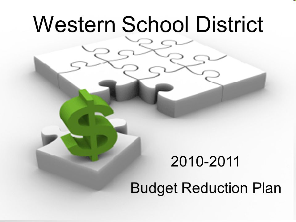 Western School District 2010-2011 Budget Reduction Plan