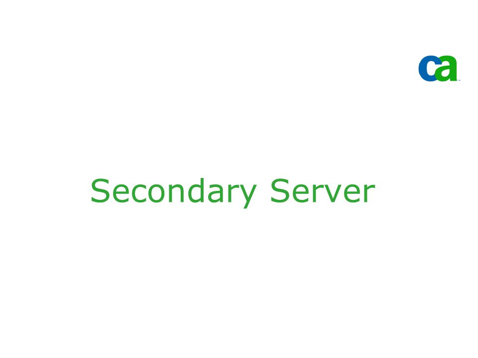 Secondary Server