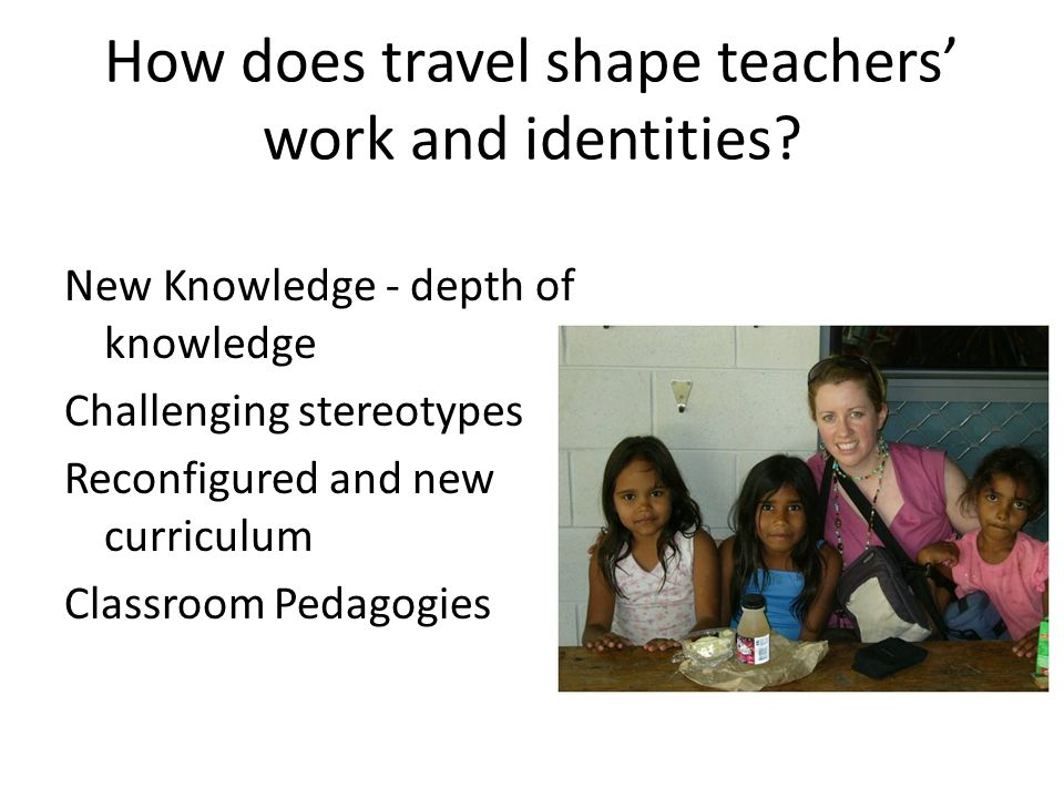 How does travel shape teachers' work and identities.