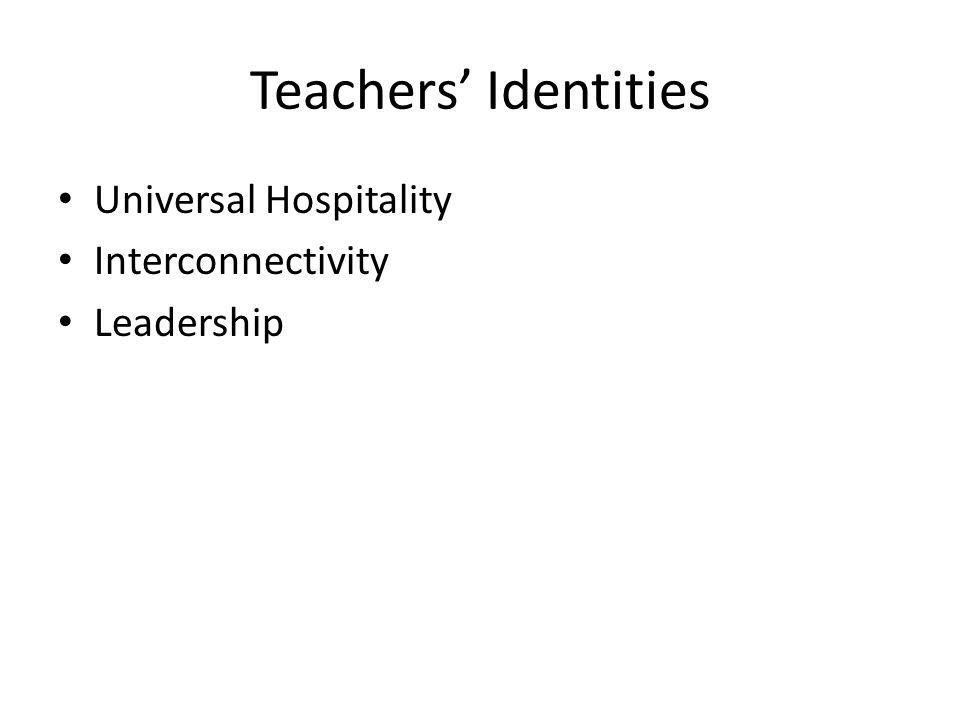 Teachers' Identities Universal Hospitality Interconnectivity Leadership