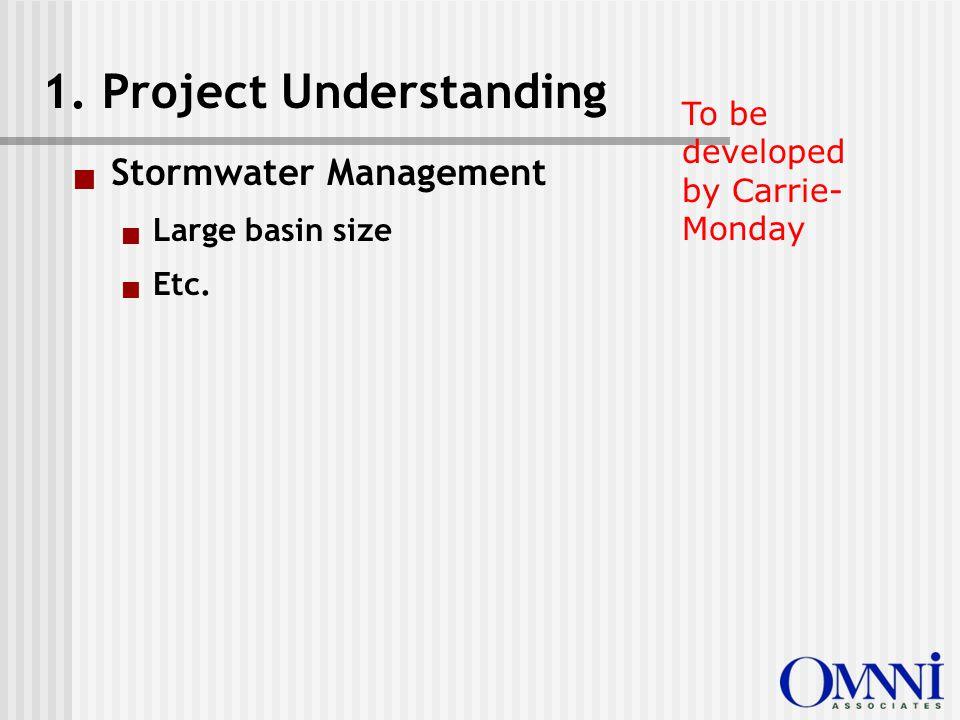  Stormwater Management  Large basin size  Etc. 1.