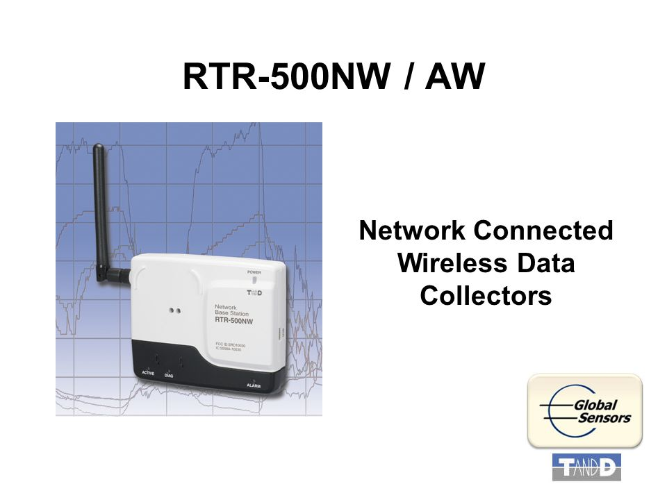 RTR-500NW / AW Network Connected Wireless Data Collectors