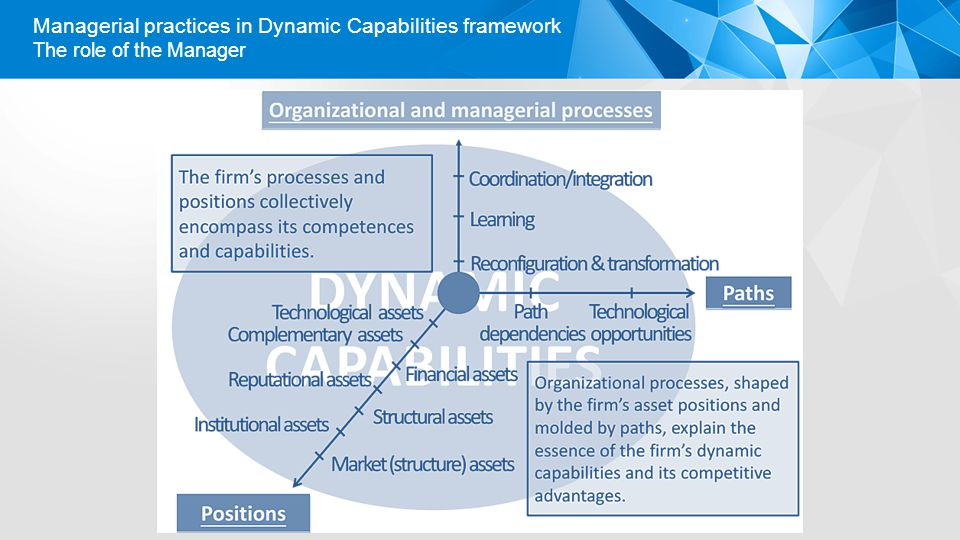 The role of the Manager Managerial practices in Dynamic Capabilities framework
