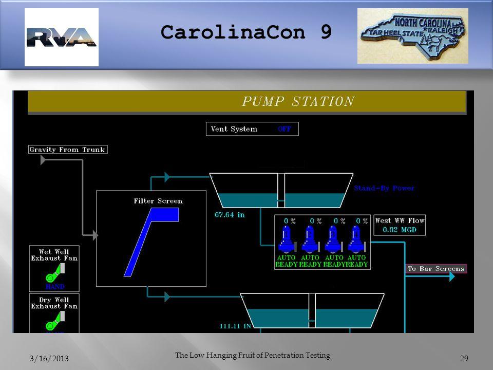 CarolinaCon 9 3/16/2013 The Low Hanging Fruit of Penetration Testing 29