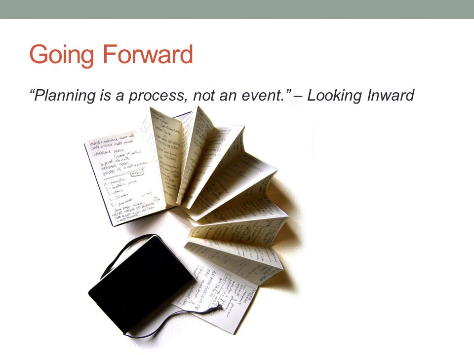 Going Forward Planning is a process, not an event. – Looking Inward