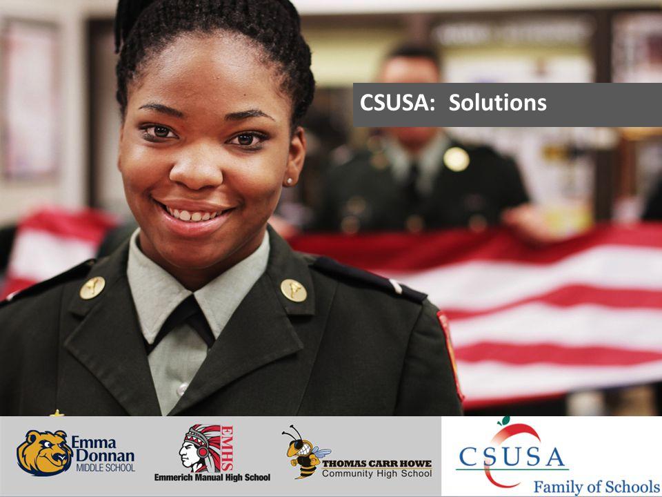Putting Students First - www.charterschoolsusa.com CSUSA: Solutions