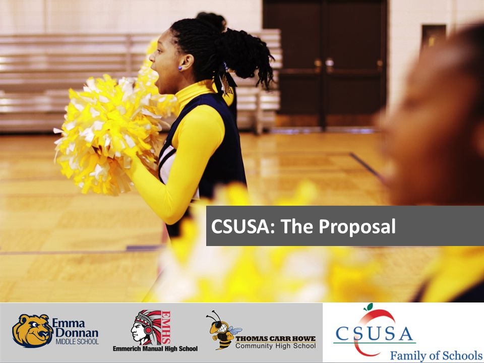 Putting Students First - www.charterschoolsusa.com CSUSA: The Proposal