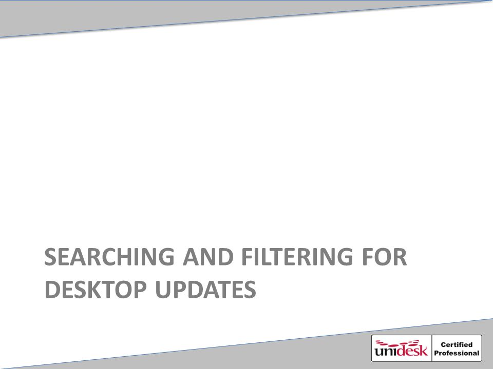 SEARCHING AND FILTERING FOR DESKTOP UPDATES
