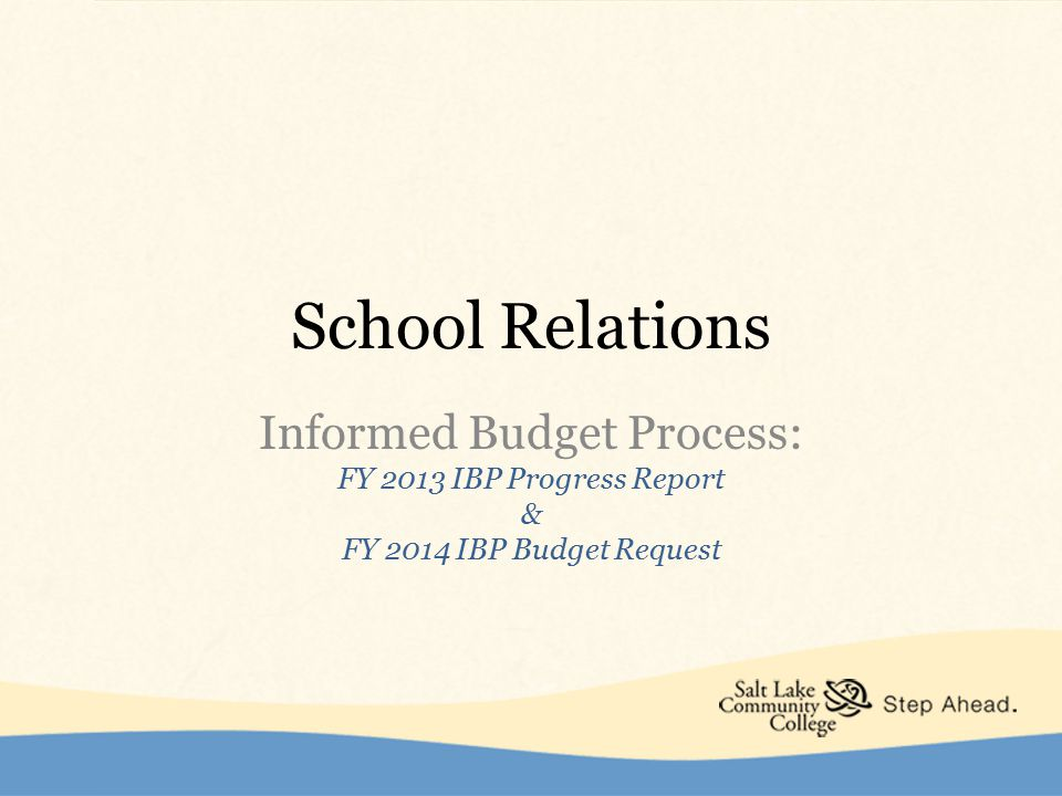 FY 2013 IBP Progress Report For Projects Funded July 1, 2012  Project Name: Full-time Administrative Assistant 1  Amount Funded: $44,000  Project Status:  Position was filled on 7/16/12  Increase in timely paperwork, reporting, reconciling budgets, reimbursements, travel encumbrances, purchasing card statements and clerical support for a staff of 12.