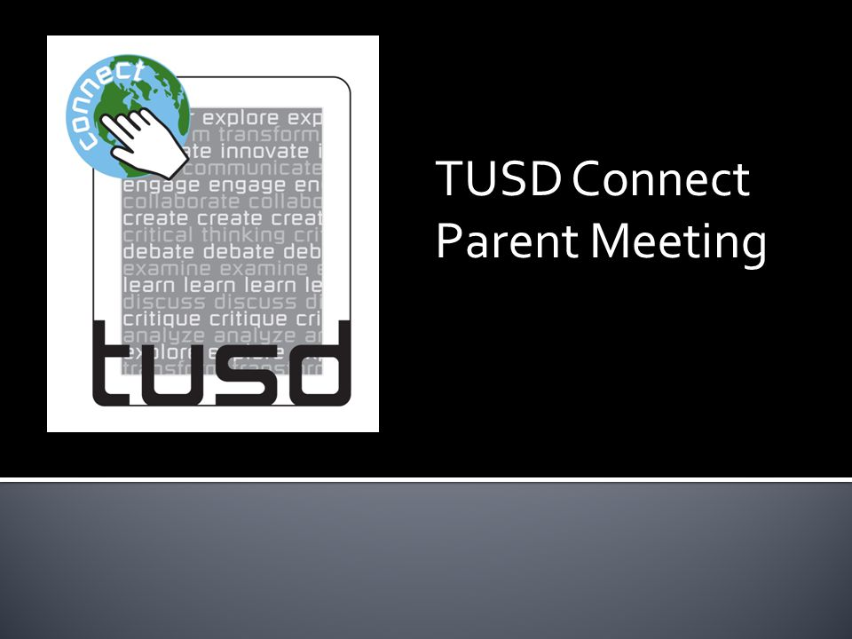 TUSD Connect Parent Meeting