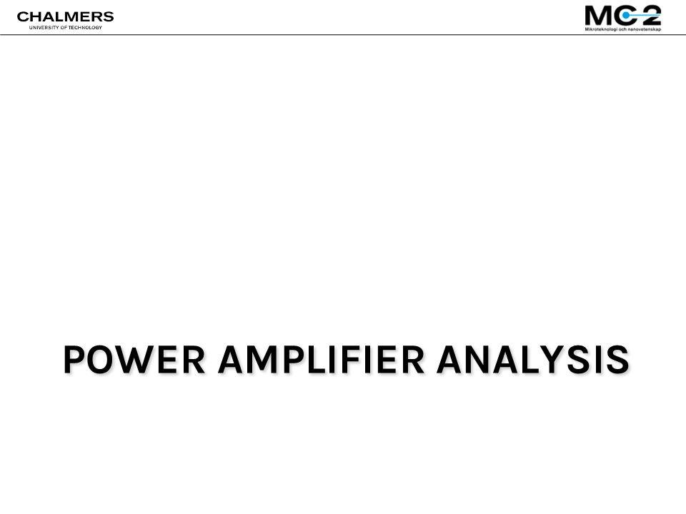 POWER AMPLIFIER ANALYSIS