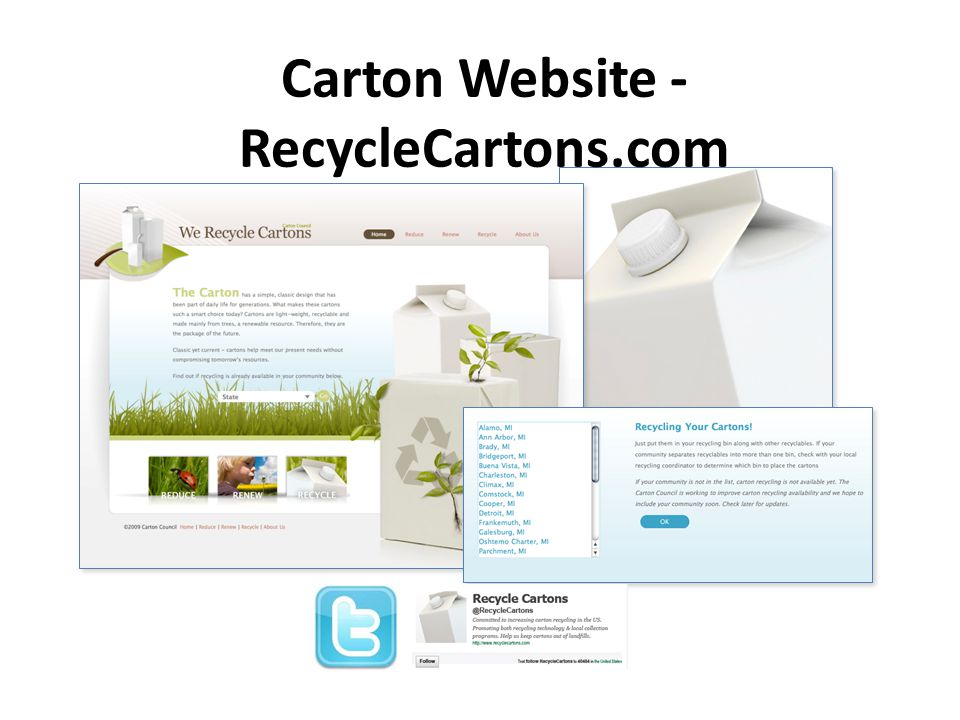 Carton Website - RecycleCartons.com