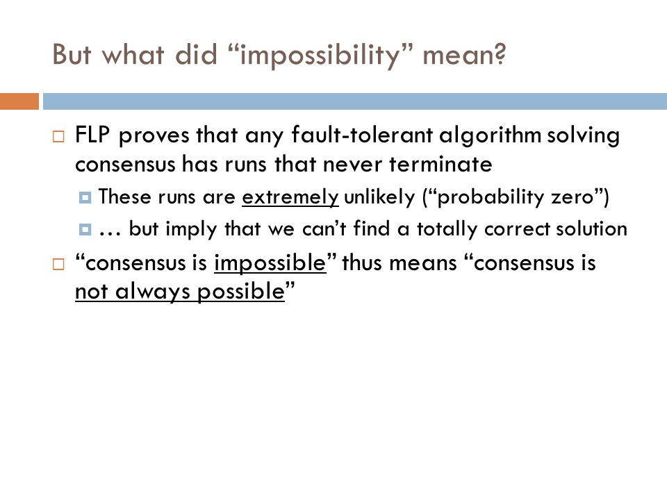 But what did impossibility mean.