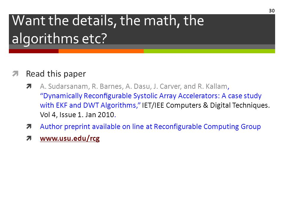 Want the details, the math, the algorithms etc.  Read this paper  A.