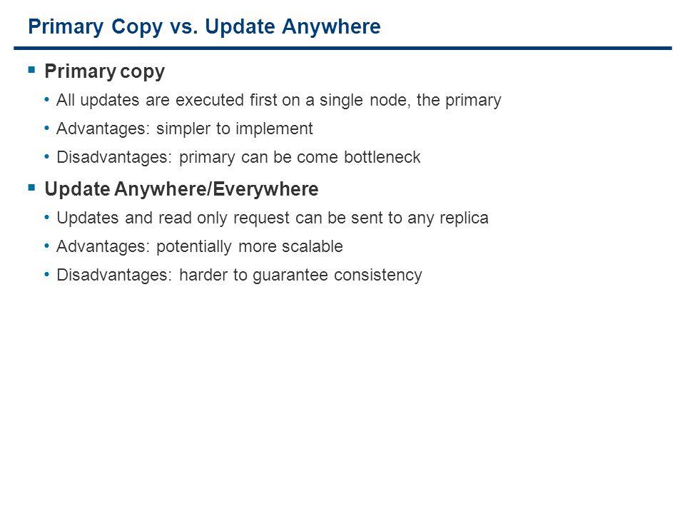 17 Primary Copy vs.
