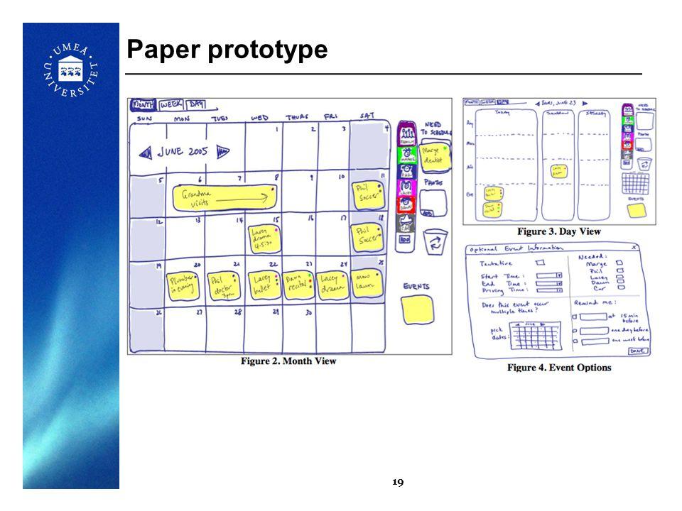 19 Paper prototype