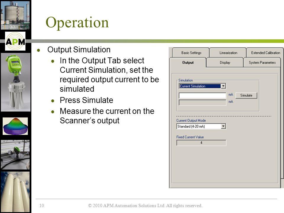 © 2010 APM Automation Solutions Ltd.