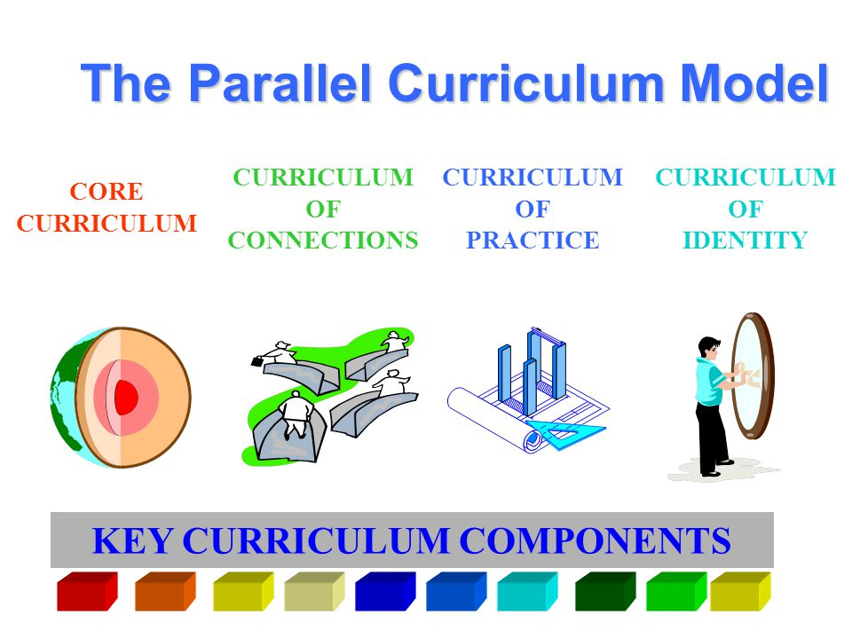 What is the Parallel Curriculum Model? The Parallel Curriculum Model is a set of four interrelated designs that can be used singly, or in combination,