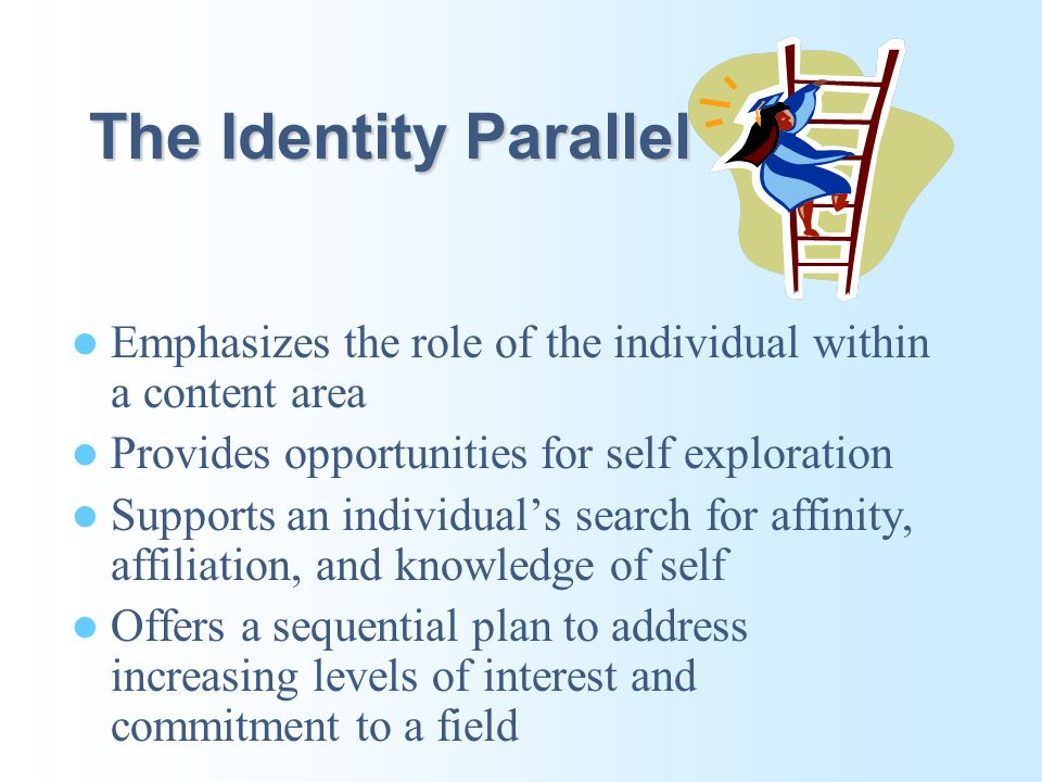 The Curriculum of Identity: Definition The Curriculum of Identity is a plan that includes a set of guidelines and procedures to assist students in ref