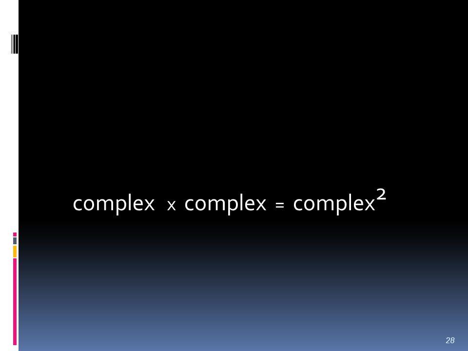 complex x complex = complex 2 28