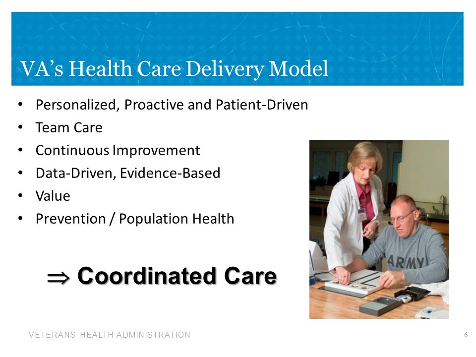 VETERANS HEALTH ADMINISTRATION For clinicians – Real-time, structured data collection – Population and panel management tools For leadership – Understanding organizational performance and vulnerabilities For public/consumers – Unparalleled transparency and public reporting Products 17
