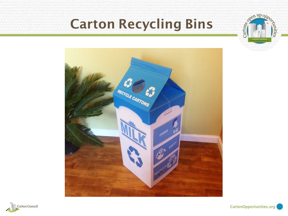 Carton Recycling Bins