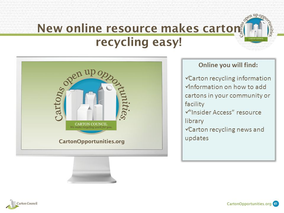 New online resource makes carton recycling easy.