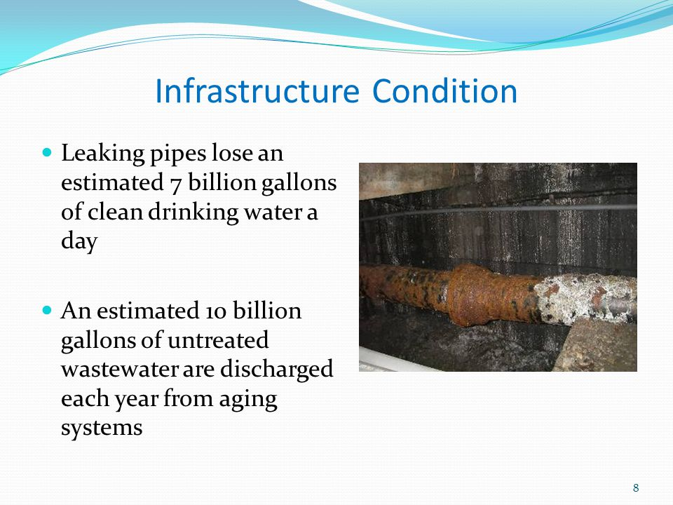 Importance of Our Nation's Infrastructure Systems All contribute directly and substantially to our nation's productivity and quality of life How efficiently and effectively these systems function is directly related to… Design Maintenance improvements 9 Clean drinking water rated as #1 advancement in the last millennium.