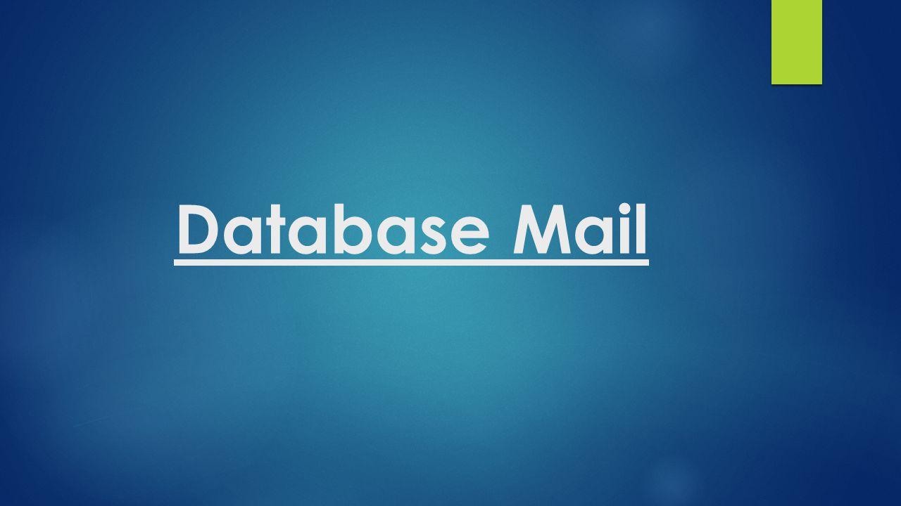 Database Mail