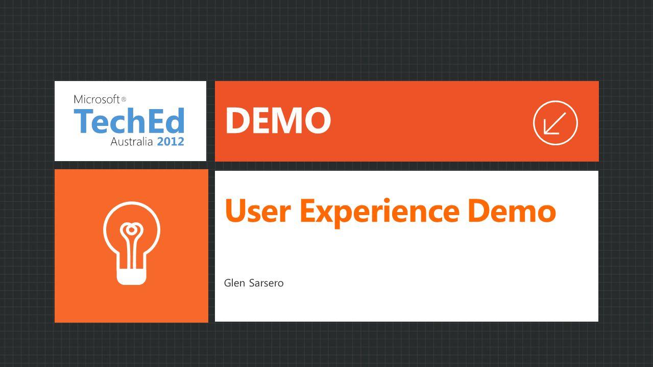 User Experience Demo Glen Sarsero DEMO