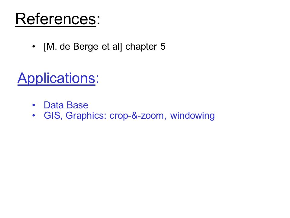 References: [M.