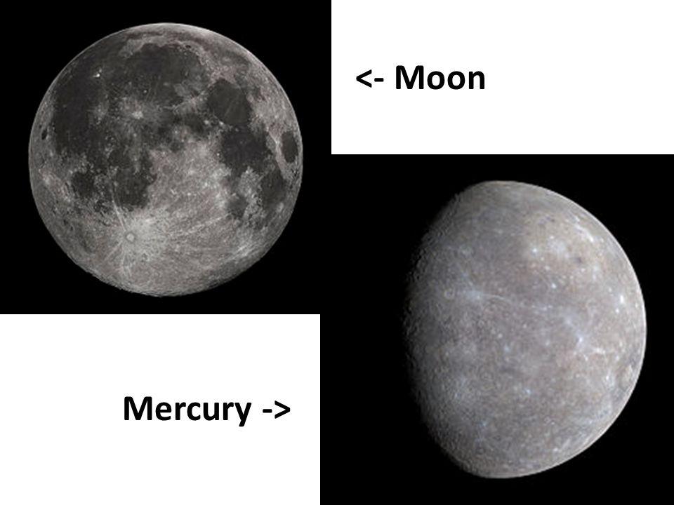 Mercury -> <- Moon