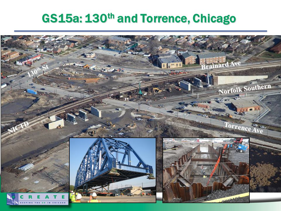 GS15a: 130 th and Torrence, Chicago NICTD Norfolk Southern 130 th St Brainard Ave Torrence Ave