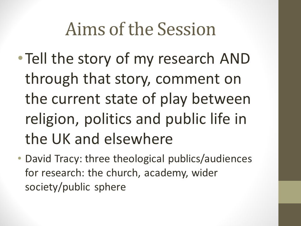 Faith in Action – The Dynamic Connection between religious and spiritual capital 2006…the story continues 43 Google citations: Business studies, human geography, sociology of religion Influential on the idea of 'faithful capital' in the Faithful Cities – A call for Celebration, Vision and Justice (2006) Leverhulme Grant (£145 K) – Faith and Traditional Capitals – defining the cope of religious capital Aimed to unpack further the relationship between belief and action and its contribution to social capital Across faith and spiritual groups – 24 focus groups and participant observation