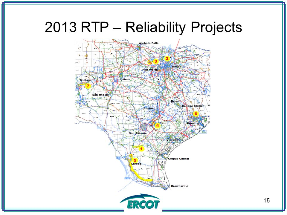 2013 RTP – Reliability Projects 15