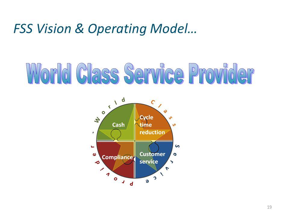 FSS Vision & Operating Model… 19