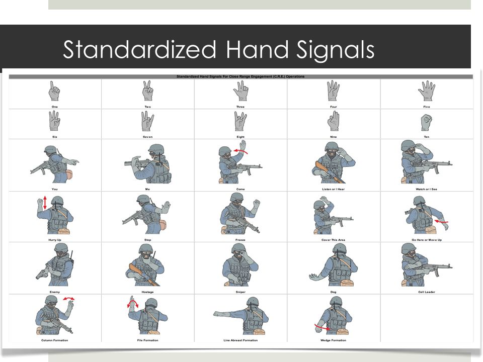 Standardized Hand Signals