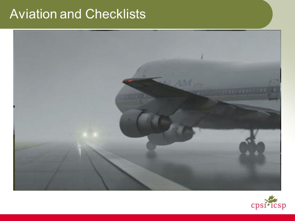 Aviation and Checklists