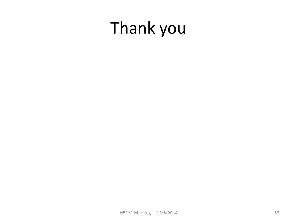 Thank you HEPAP Meeting 12/8/201437