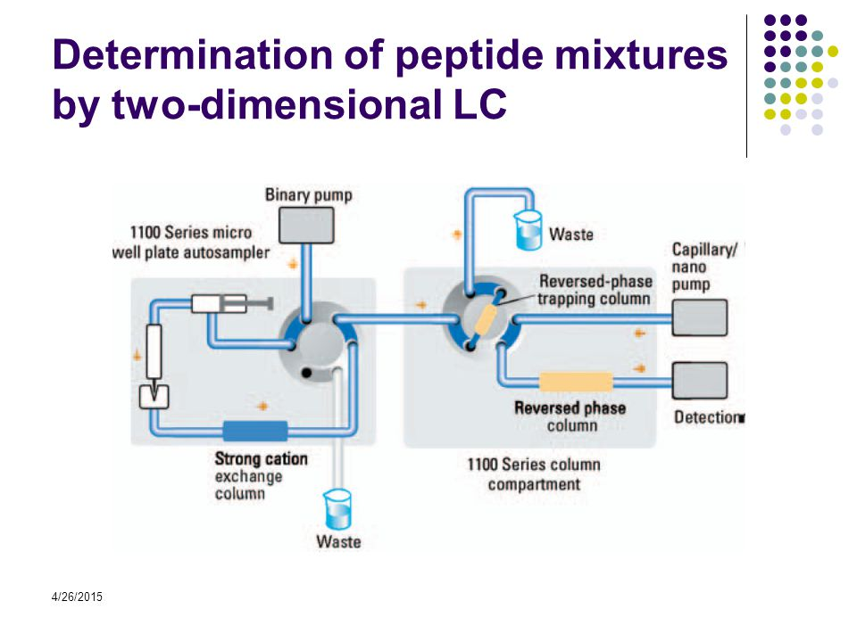4/26/2015 Determination of peptide mixtures by two-dimensional LC