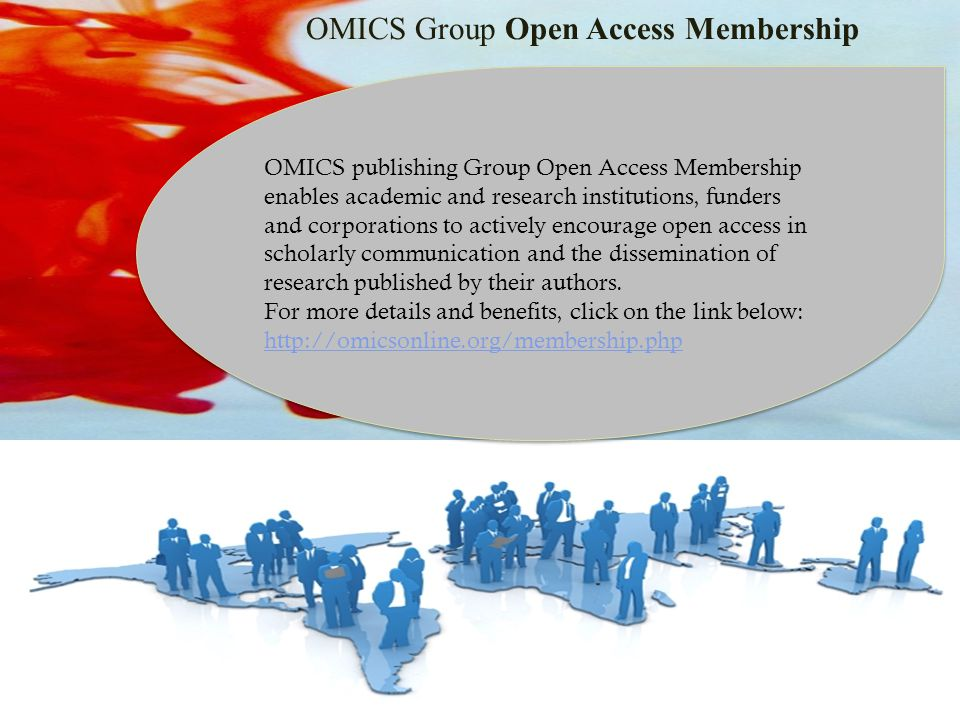 OMICS Group Open Access Membership OMICS publishing Group Open Access Membership enables academic and research institutions, funders and corporations to actively encourage open access in scholarly communication and the dissemination of research published by their authors.