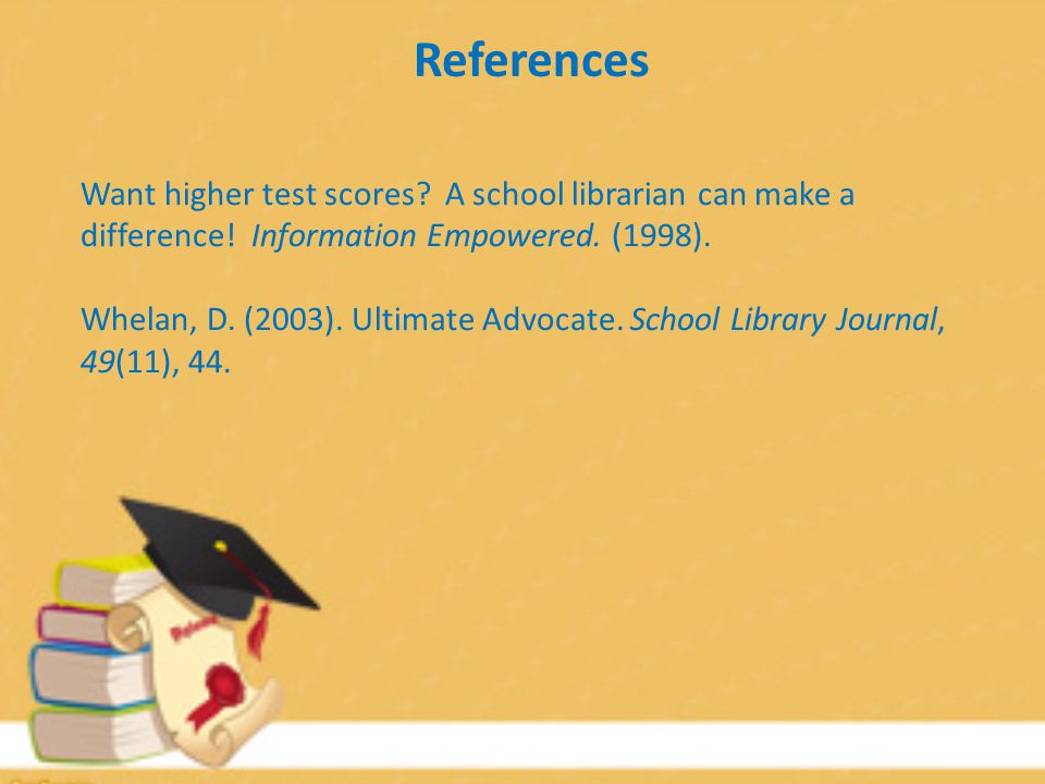 Want higher test scores. A school librarian can make a difference.